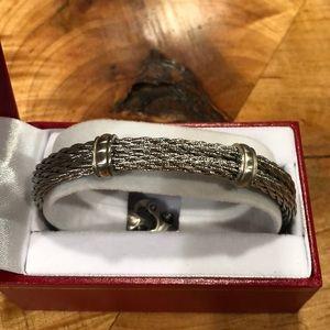 Men's steel bracelet NIB
